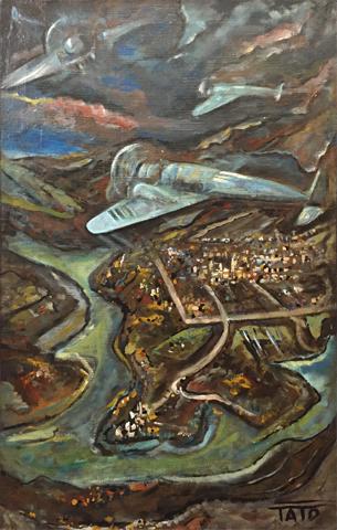 Tato Guglielmo Sansoni Sorvolando il mare lago di Sabaudia